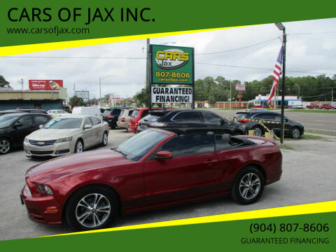 2014 Ford Mustang for sale at CARS OF JAX INC. in Jacksonville FL