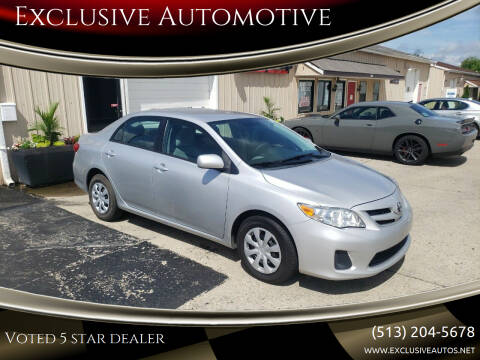 2011 Toyota Corolla for sale at Exclusive Automotive in West Chester OH