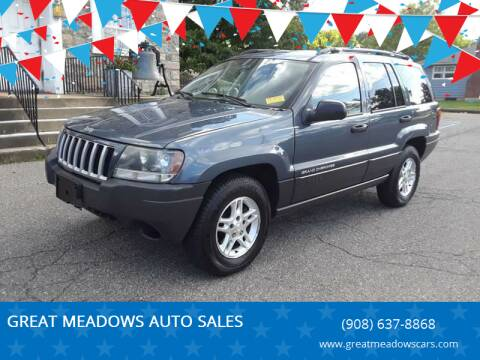 2004 Jeep Grand Cherokee for sale at GREAT MEADOWS AUTO SALES in Great Meadows NJ