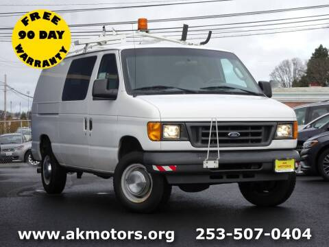 2005 Ford E-Series Cargo for sale at AK Motors in Tacoma WA