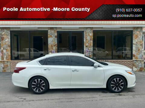 2018 Nissan Altima for sale at Poole Automotive in Laurinburg NC