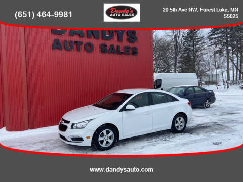 2015 Chevrolet Cruze for sale at Dandy's Auto Sales in Forest Lake MN