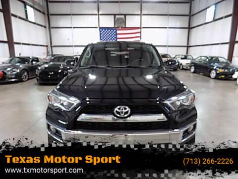 2016 Toyota 4Runner for sale at Texas Motor Sport in Houston TX