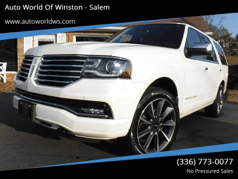 2016 Lincoln Navigator for sale at Auto World Of Winston - Salem in Winston Salem NC