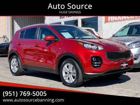 2017 Kia Sportage for sale at Auto Source in Banning CA