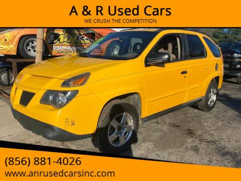 2002 Pontiac Aztek for sale at A & R Used Cars in Clayton NJ