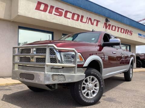 2018 RAM Ram Pickup 3500 for sale at Discount Motors in Pueblo CO