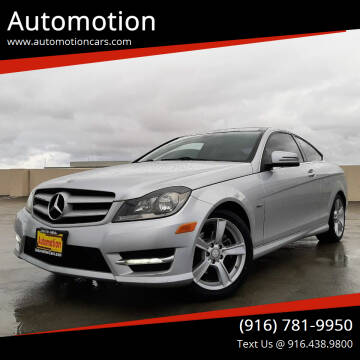 2012 Mercedes-Benz C-Class for sale at Automotion in Roseville CA