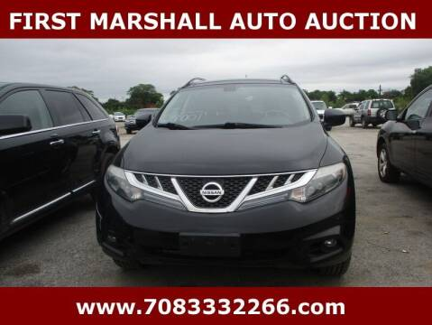 2012 Nissan Murano for sale at First Marshall Auto Auction in Harvey IL