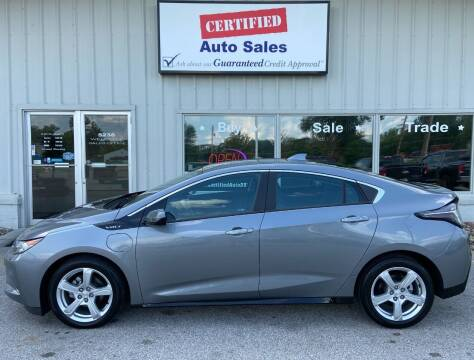 2018 Chevrolet Volt for sale at Certified Auto Sales in Des Moines IA