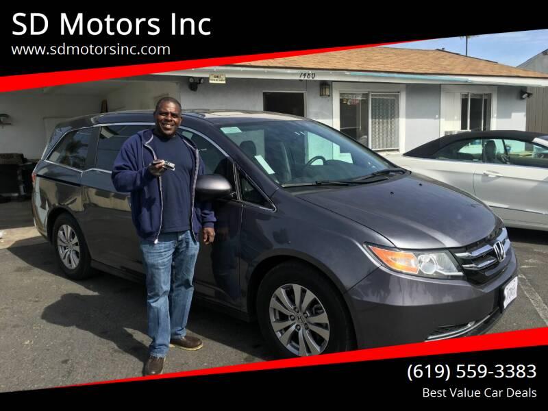 2016 Honda Odyssey for sale at SD Motors Inc in La Mesa CA