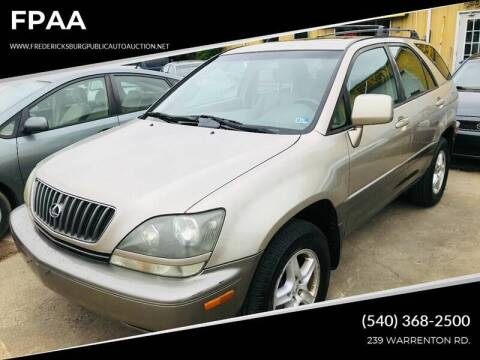 1999 Lexus RX 300 for sale at FPAA in Fredericksburg VA