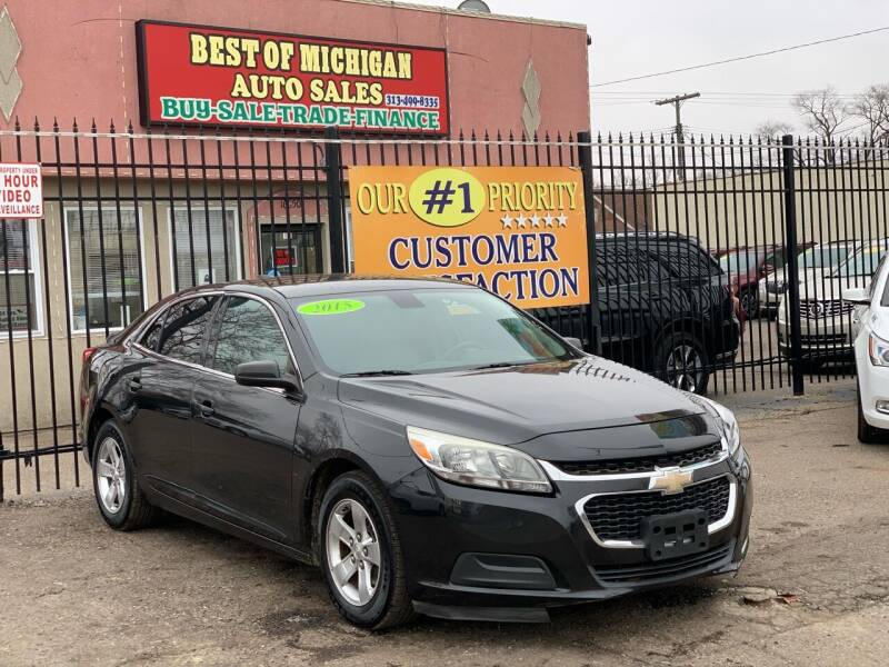 2015 Chevrolet Malibu for sale at Best of Michigan Auto Sales in Detroit MI