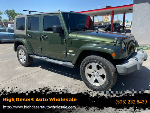 2008 Jeep Wrangler Unlimited for sale at High Desert Auto Wholesale in Albuquerque NM