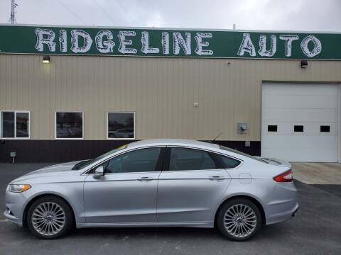 2013 Ford Fusion for sale at RIDGELINE AUTO in Chubbuck ID