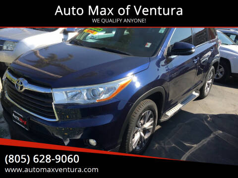 2014 Toyota Highlander for sale at Auto Max of Ventura in Ventura CA