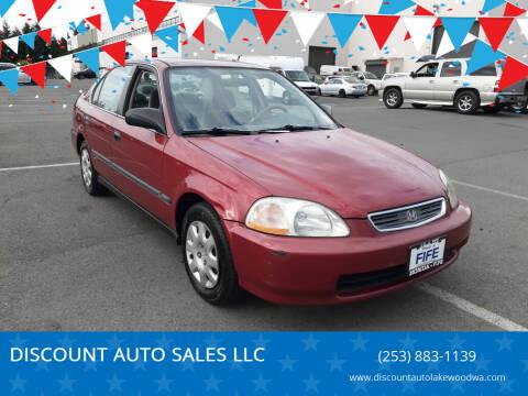 1998 Honda Civic for sale at DISCOUNT AUTO SALES LLC in Spanaway WA