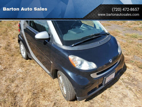 2009 Smart fortwo for sale at Barton Auto Sales in Longmont CO