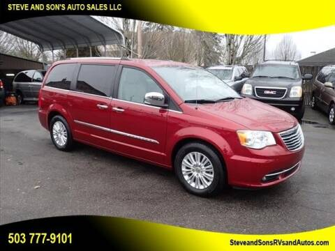 2012 Chrysler Town and Country for sale at Steve & Sons Auto Sales in Happy Valley OR