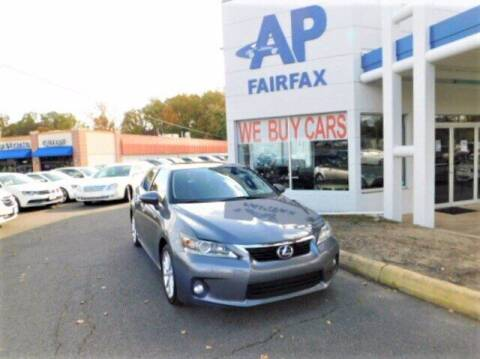 2012 Lexus CT 200h for sale at AP Fairfax in Fairfax VA