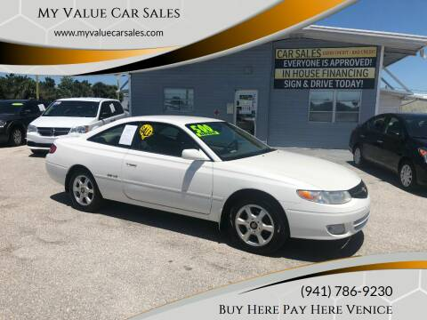 2001 Toyota Camry Solara for sale at My Value Car Sales - Upcoming Cars in Venice FL