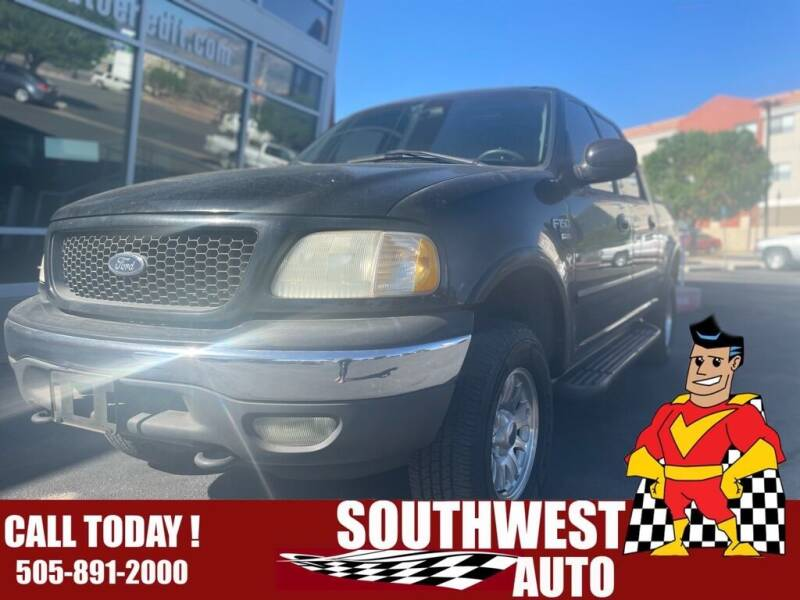 2001 Ford F-150 for sale at SOUTHWEST AUTO in Albuquerque NM