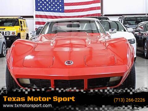 1974 Chevrolet Corvette for sale at Texas Motor Sport in Houston TX