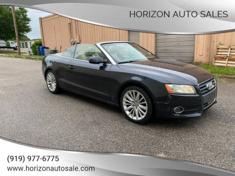 2012 Audi A5 for sale at Horizon Auto Sales in Raleigh NC