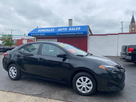 2017 Toyota Corolla for sale at Gonzalez Auto Sales in Joliet IL