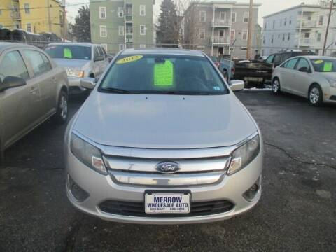2012 Ford Fusion for sale at MERROW WHOLESALE AUTO in Manchester NH