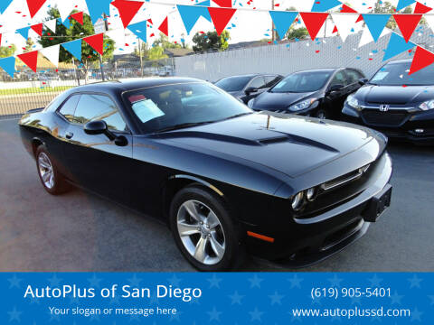 2018 Dodge Challenger for sale at AutoPlus of San Diego in Spring Valley CA