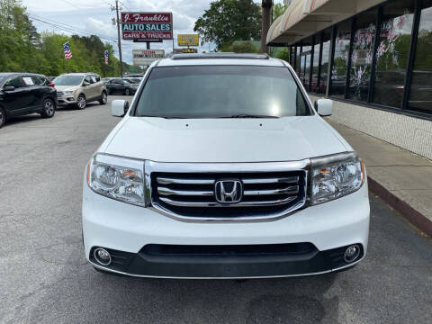 2013 Honda Pilot for sale at J Franklin Auto Sales in Macon GA