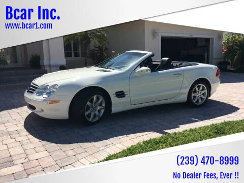 2003 Mercedes-Benz SL-Class for sale at Bcar Inc. in Fort Myers FL