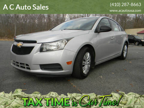 2012 Chevrolet Cruze for sale at A C Auto Sales in Elkton MD
