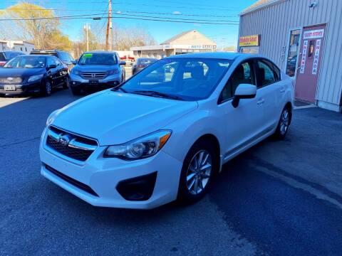2012 Subaru Impreza for sale at Dijie Auto Sale and Service Co. in Johnston RI