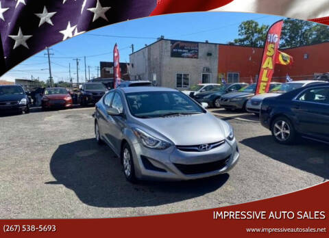 2016 Hyundai Elantra for sale at Impressive Auto Sales in Philadelphia PA