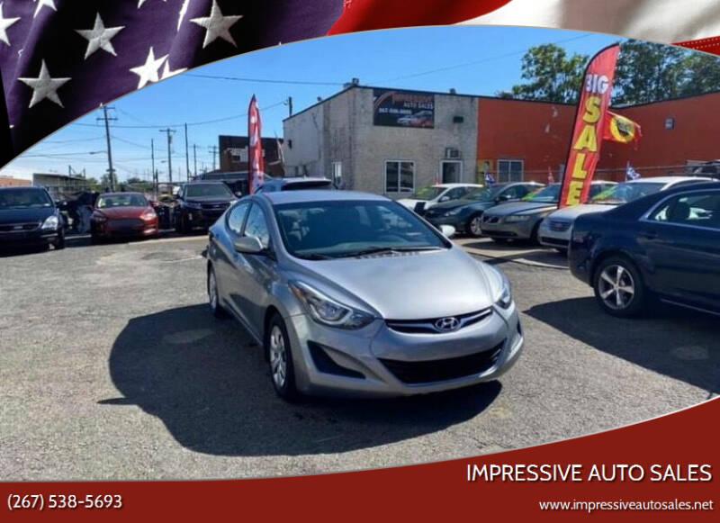 2016 Hyundai Elantra for sale at Impressive Auto Sales in Philadelphia PA
