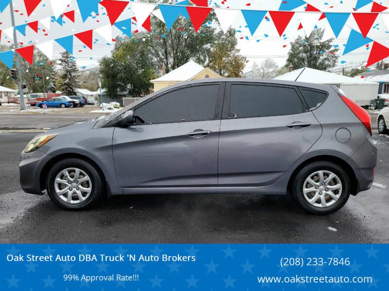 2013 Hyundai Accent for sale at Oak Street Auto DBA Truck 'N Auto Brokers in Pocatello ID