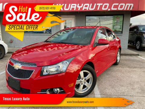 2012 Chevrolet Cruze for sale at Texas Luxury Auto in Cedar Hill TX