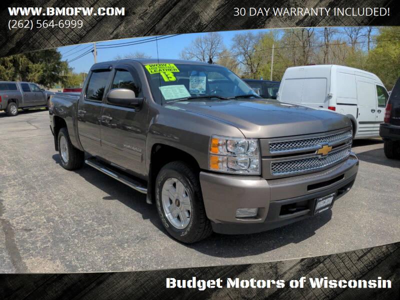 2013 Chevrolet Silverado 1500 for sale at Budget Motors of Wisconsin in Racine WI