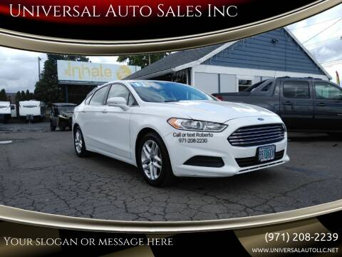 2013 Ford Fusion for sale at Universal Auto Sales Inc in Salem OR