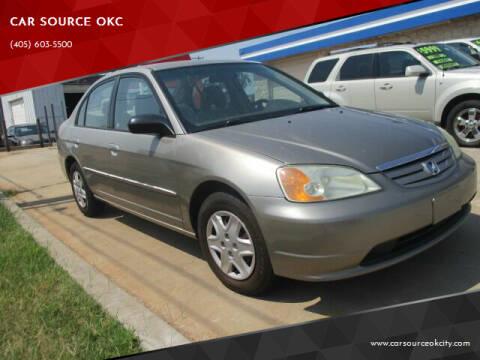 2003 Honda Civic for sale at CAR SOURCE OKC - CAR ONE in Oklahoma City OK
