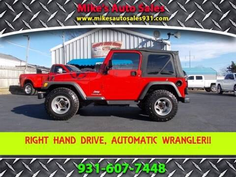 2003 Jeep Wrangler for sale at Mike's Auto Sales in Shelbyville TN