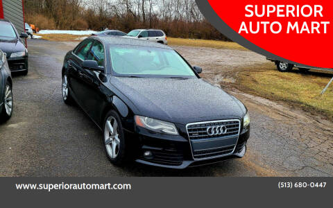 2010 Audi A4 for sale at SUPERIOR AUTO MART in Amelia OH