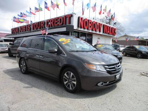 2015 Honda Odyssey for sale at Giant Auto Mart 2 in Houston TX