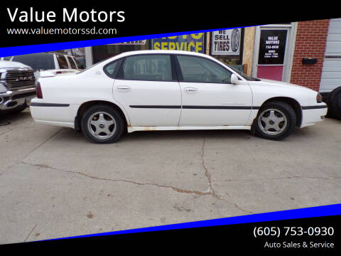 2001 Chevrolet Impala for sale at Value Motors in Watertown SD
