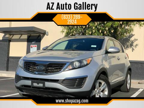 2012 Kia Sportage for sale at AZ Auto Gallery in Mesa AZ