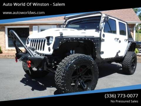 2013 Jeep Wrangler Unlimited for sale at Auto World Of Winston - Salem in Winston Salem NC