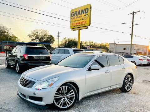 2009 Infiniti G37 Sedan for sale at Grand Auto Sales in Tampa FL