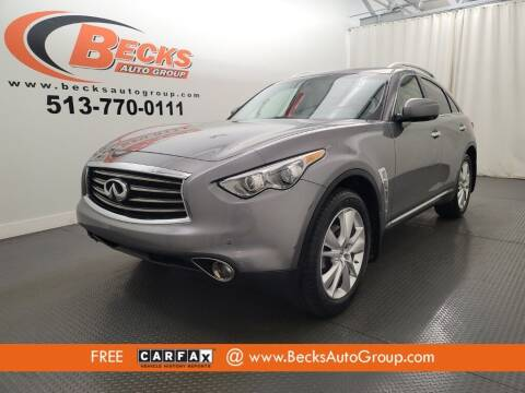2012 Infiniti FX35 for sale at Becks Auto Group in Mason OH